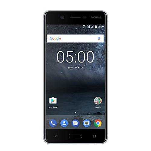 Nokia 5 Dual SIM Smartphone (13,2 cm (5,2 Zoll), 16GB, 13 Megapixel Kamera, Android 7.0) satin-silber/weiß