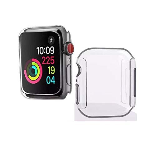 Hülle für Apple Watch Series 4,KJYF Schutzhülle Bumper Cover TPU Silikon Schale Ultra Dünn Case Handyhülle Cover für Apple Watch 44mm.