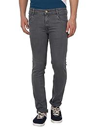 Par Excellence Men's Regular Fit Stretch Jeans (Light Grey)