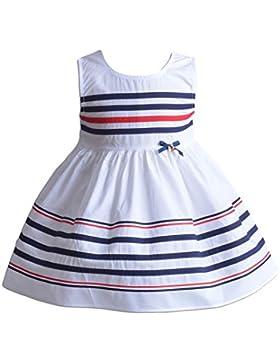 Cinda Las niñas de rayas de algodón vestido de fiesta de verano