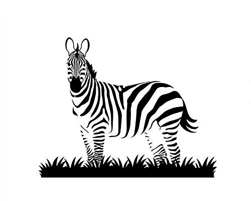 too Tiere Wandaufkleber Dekoration Afrika Muster Wandkunst Abnehmbare Zebra Mit Gras Vinyl Wandbild72 * 57 cm ()