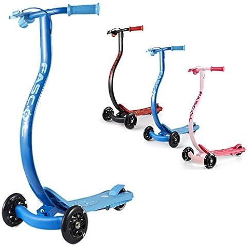 Fascol® Patinete con 3 ruedas - Apto para niños de 4 años en adelante - peso máximo de 60 kg -