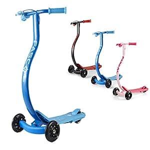 Fascol Scooter Monopattino per Bambini Monopattino 3 Ruote con Freno a Mano Anti-Clip Peso Max 60 kg, Blu