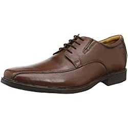 Clarks Tilden Walk, Zapatos de Cuero para Hombre