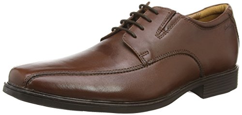 Clarks Tilden Walk, Herren Derby Schnürhalbschuhe, Braun (BROWN LEATHER)