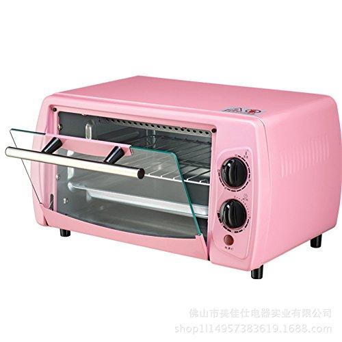 DULPLAY Toasterofen,Besten Konvektion,Mini,12L,Kapazität,Digitale Essen,Arbeitsplatte Ofen Rosa Digital Poliertem Edelstahl Toast Home Küche-Rosa 36x21x21cm(14x8x8inch)