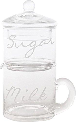 MILCH-& ZUCKER-SET MILK&SUGAR, 2er Set, Glas