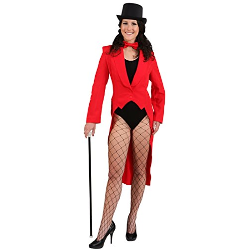 Kostüm Kabarett - Amakando Damen Kabarett Kostüm - 38/40 (S/M) - Frack für Frauen Frauenfrack Revue Faschingsfrack Showgirl Outfit Frack für Frauen
