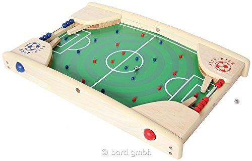 Flip Kick Deluxe, 58 cm, Mischung aus Flipper und Kicker, das perfekte Fußball Geschicklichkeitsspiel für 2 Spieler in allen Altersklassen, kompakt und robust, passt auf jeden Tisch oder Boden und ist leicht zu transportieren