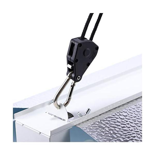 Kawosh Cuerda de 2 Piezas Cuerda con Gancho Rollos fáciles para lámparas Reflectores Ventiladores Sopladores Lámpara de… 3