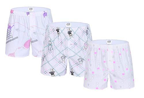 Elodiey Shorts Damen Sommer Badeshorts Badehose Boardshorts Unterhose Beachshorts Boxershorts Business Tierdruck Pack of 3 (Color : Y123, Size : L) Strand Paper Pack
