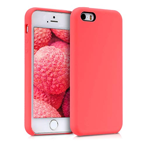kwmobile Apple iPhone SE / 5 / 5S Hülle - Handyhülle für Apple iPhone SE / 5 / 5S - Handy Case in Neon Koralle