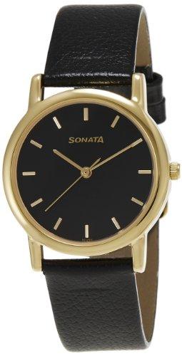 Sonata Analog Black Dial Men's Watch - NF7987YL03J