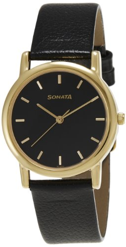 Sonata Analog Black Dial Men's Watch -NJ7987YL03W