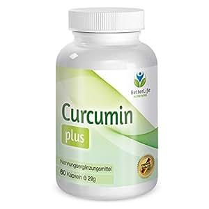 Super Curcumin Plus - 100% natürliches Curcumin - 750mg Tagesdosis - Einer der BESTSELLER von BetterLife Nutritions