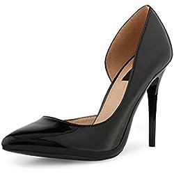 best-boots Damen Pumps Stieletto High Heels in Lack Black 1311 Größe 39