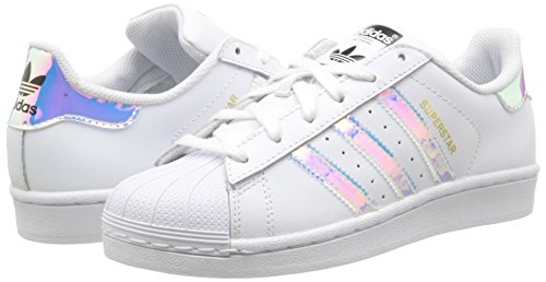 adidas Originals Superstar BB2872, Sneakers Unisex - Bambini, Bianco (Ftwr White/Ftwr White/Metallic Silver Sld), 36 EU