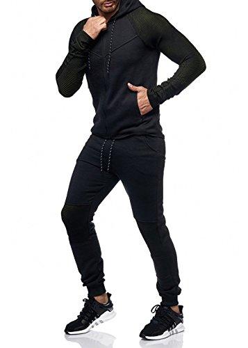 Herren Jogging-Anzug Polo Club Design, (XL-Slim, Khaki Neu)