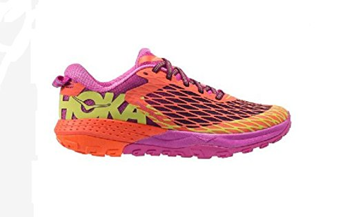 HOKA ONE ONE Women's Speed Instinct Neon Coral/Plum Athletic Shoe