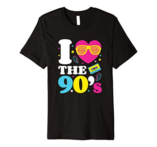 I love the 90er's T-Shirt Retro 90er Jahre Kostüm ()