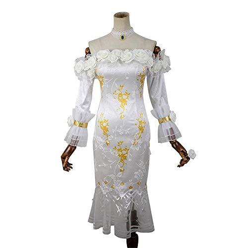 Glam Cos Identity V - Vera Nair weibliches Cosplay-Kostüm - Heute Abend oder nie - Weiß - XX-Small - Glam-abend-kleid