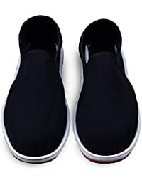 851f6eae4 QianCengDi LvYuan Zapatos Tradicionales Chinos Unisex del paño Retro  Ocasional Respira Zapatos de Melaleuca