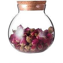 1 UNIDS 500 ML 17.5OZ Vacío Recargable Flor de Cristal Transparente Sello de Té Latas