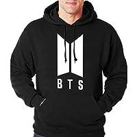 BTS Black Round Neck Hoodie & Sweatshirt For Unisex