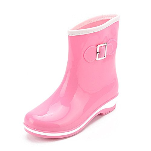Fashion lady anti-dérapant bottes de pluie Pink