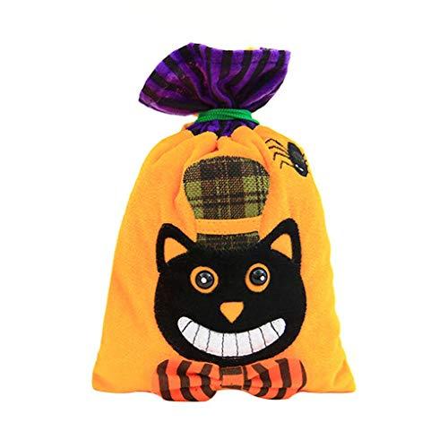 (Lidahaotin Halloween-Beutel der Kürbis-Katzen-Hexe-Geschenk-Beutel für Kinder-Kostüm-Party-Bevorzugungen Supplies #1)