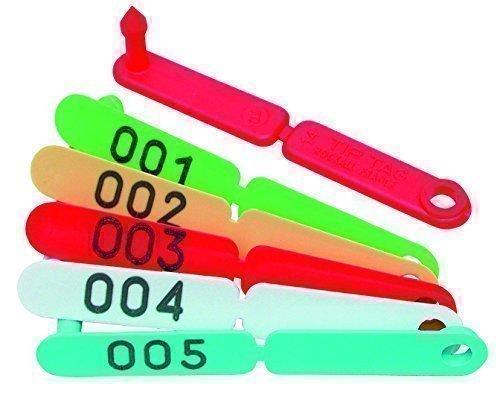 Preisvergleich Produktbild Horizont Ohrmarken TIP TAG, Nr. 001-100, grün