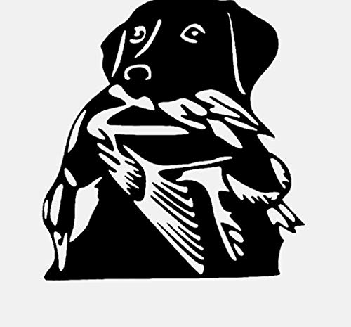 DIY Wandaufkleber Tier Hund Ente Jagd Dekoration Kunst Wohnkultur für Wohnzimmer Schlafzimmer Kinderzimmer 55x59 cm -