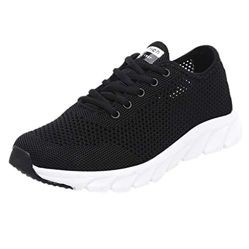 POLPqeD Scarpe da Corsa da Donna Summer Ladies Hollow Mesh Leggero Breathable Casual Lace-Up Sneaker Scarpe