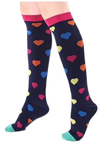 EKU Compression Socks For Women and Men, 20-30mmHg, BEST Stockings for Running,Athletic,Edema,Diabetic,VaricoseVeins,Travel,Pregnancy,Maternit