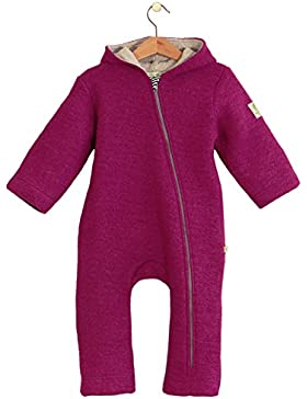bubble.kid berlin - Mädchen Baby Winter Overall, Woll-Overall ANU - TEC-Softwalkwolle granat
