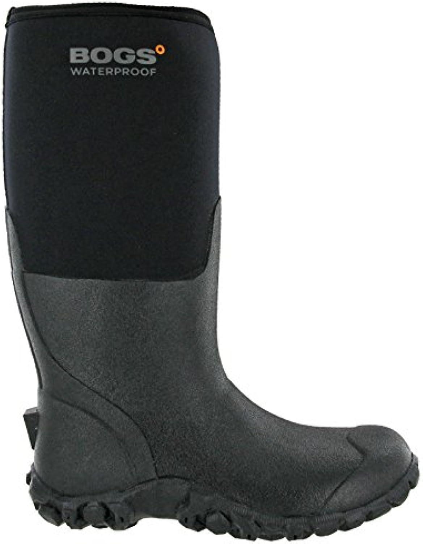 Bogs Mens Range Black Insulated Waterproof Warm Wellington Boots UK6 (EU40)