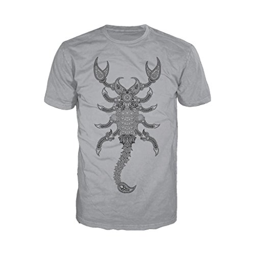 WWE Sting Paisley Scorpion Official Men's T-Shirt (Heather Grey) (Medium)