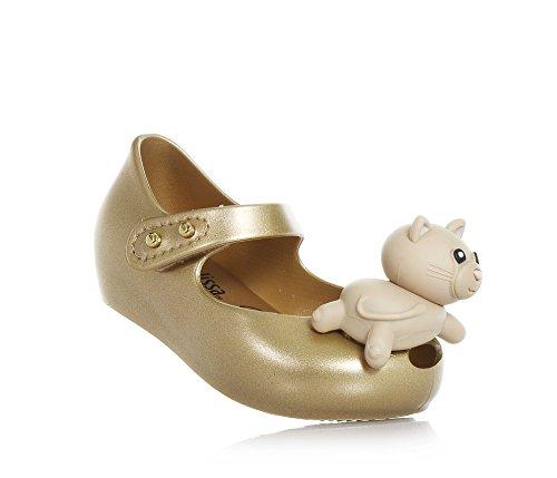 Ballerina, Made in Brazil, auf der Vorderseite Eine Applikation mit Einer Kleinen Katze, Mädchen-19/20 (Minnie Maus Gelb Schuhe)