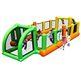 Bouncy Castles Fußball-Trampolin für Kinder, aufblasbar, quadratisch, Oxfordgewebe, grün, 335 *...