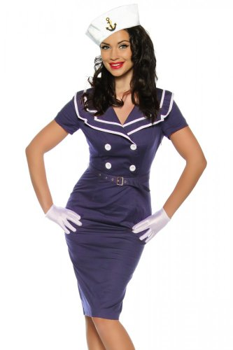 Pin-Up-Vintage-Kleid, (Up Retro Kostüme Halloween Pin)