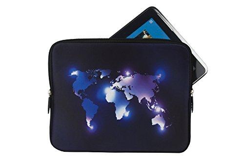 """Preisvergleich Produktbild Reissverschluss Tablet PC Notebook Tasche Schutz Hülle mit Motiv """"Dunkle Welt"""" geeignet für """"Acer Iconia One 10"""" Case Sleeve Etui"""