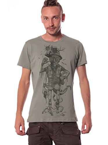 Hunter S. Thompson en Miedo y asco en Las Vegas - Camisetas de cine con diseño gráfico para hombre - Talla XXL, verde