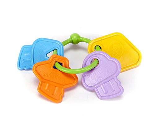 Unbekannt Green Toys Klappernder Schlüsselbund, Schlüssel Greifling Babyspielzeug
