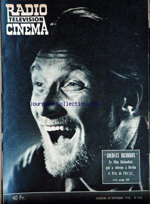 RADIO CINEMA TELEVISION [No 454] du 28/09/1958 par COLLECTIF