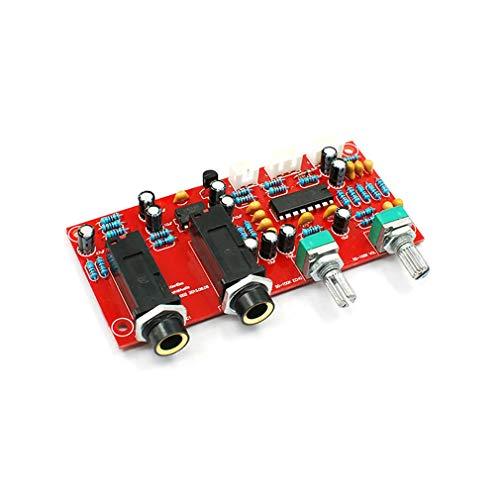 PT2399 Digitales Mikrofon Verstärkerplatine Karaoke-Platte Reverb Preamplifier Reverberator Suite-Komponenten NE5532 DC 12V-24V