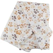 Hrph Nueva floral lindo del animal doméstico caliente de la impresión de perro de perrito del paño grueso y suave manta
