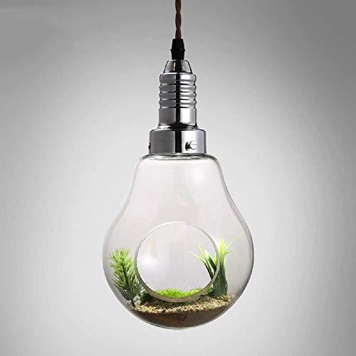 266139mmcouleur Fer Modern Lustres En Creative Bulb Spots Verre Nordic Décoration Restaurant Garden Pendentif Air Unique Plant xoWCedrB