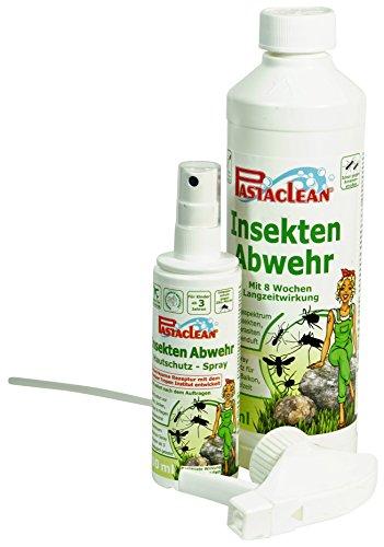 Pastaclean Insektenabwehr Insektenschutz 500 mL + Hautschutz - Spray 100 mL