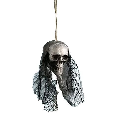 YWLINK Halloween Skelett Braut TräGt Einen Schleier HäNgende Dekoration,Haunted House,Bar,Hausgarten,Speichern Horrordekoration(D,36cm)