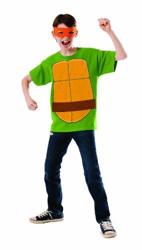 Michelangelo-Kostüm für Jungen Ninja Turtles Kit